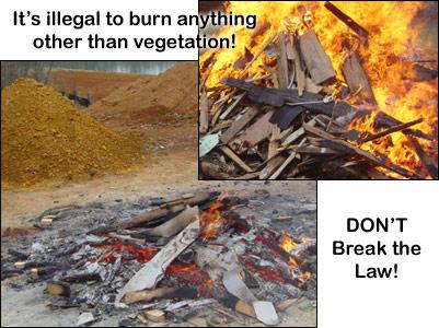 Image result for open burning yard waste