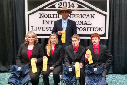 4-H Livestock Team Member Places at Nationals