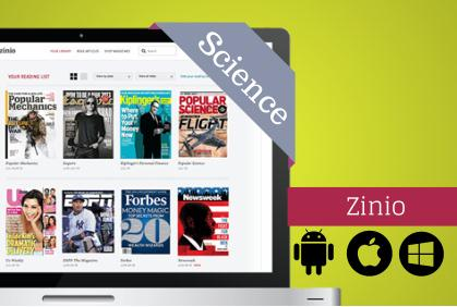 Science eMagazines with Zinio