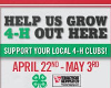 Support 4-H April 22 - May 2