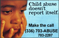 Child abuse doesn't report itself.